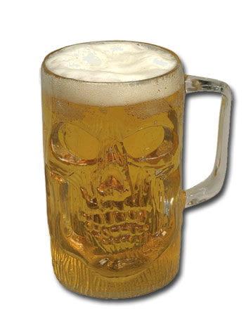Totenkopf Bierkrug Klar