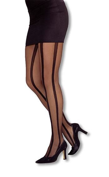 Tights with black stripes