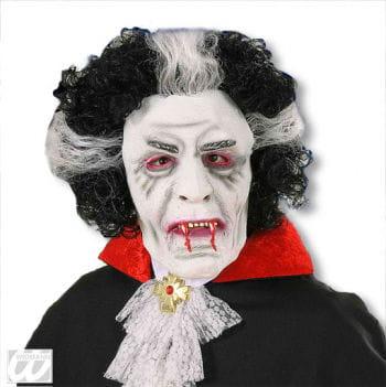 Dracula Maske mit Haaren
