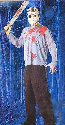 Jason Shirt , Mask and Machete Adult