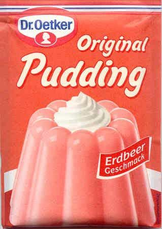 Pudding powder strawberry