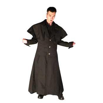 Mantel blk Cotton Kutscher Gr.XL