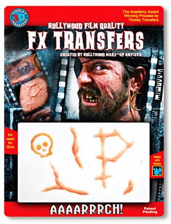 3D Tattoo Pirate Scars