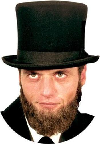 Real Hair Beard Lincoln Black