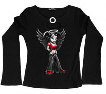 Girlie Longsleeve Goth Angel Gr. L