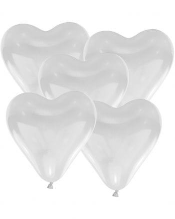 Weiße Herzluftballons 50 St.