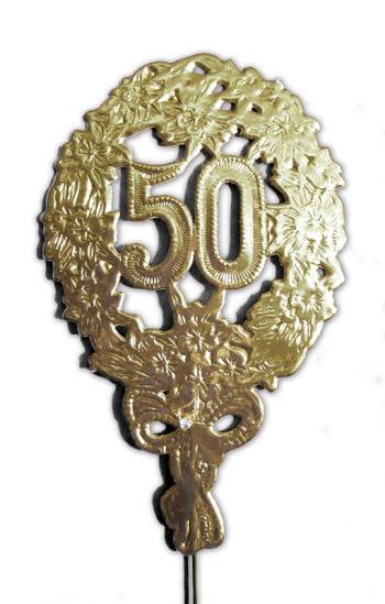 Jubiläums Zahl 50 gold