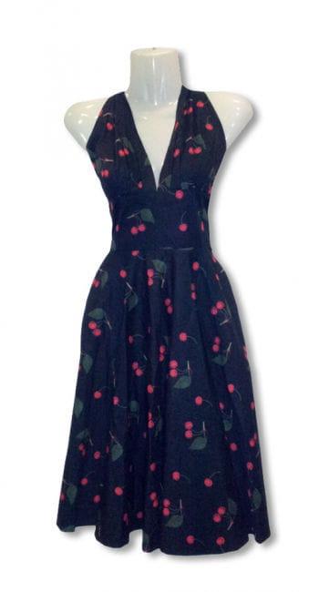 50er Jahre Kleid mit Kirschen