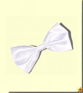 Satin bow tie white