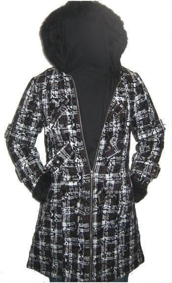 Celina Coat with Plush Hood L