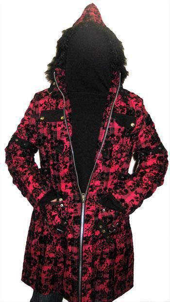 Mantel mit geflocktem Muster Gr.S