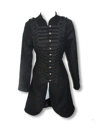 Black Gothic Coat Uniform Style L