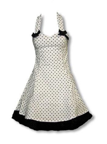 Polka dot dress black XS