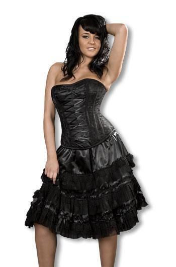 Gothic Lolita skirt with lace SM