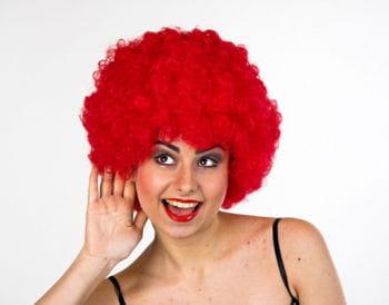 Clown Afro Perücke rot