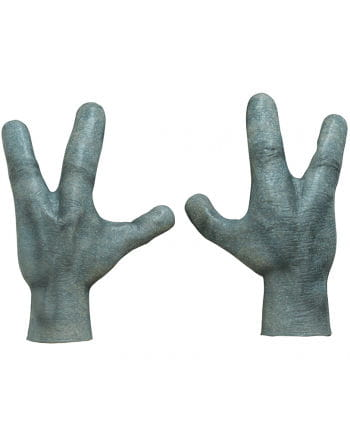 Alien hands made from latex