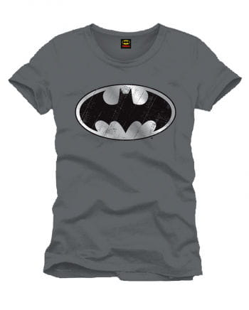 Batman T-Shirt silber Logo