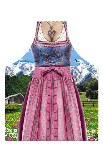 Bavarian Dirndl apron motif