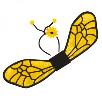 Bee Wings with Antennae Head Boppers