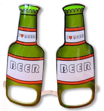 Bierflasche Scherzbrille