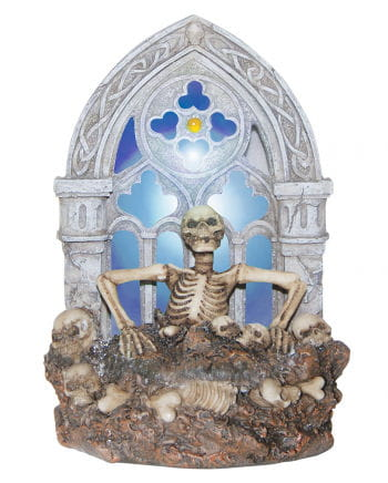 Skeleton tomb light with LED