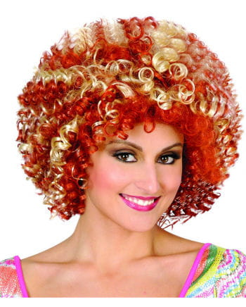 Disco Afro wig blonde / red