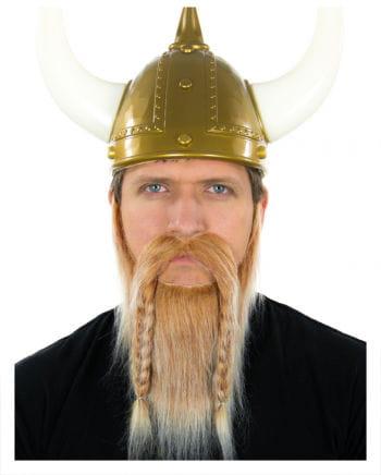 Wikinger Bart Blond-Weiß Meliert