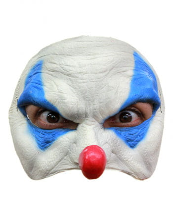 Blue Clown Halbmaske