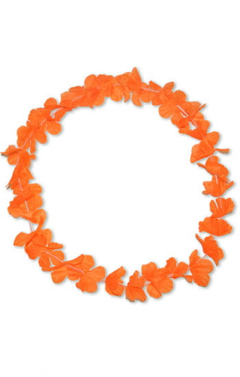 Flower necklace orange