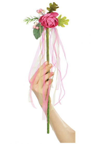 Blumenfee Zauberstab pink