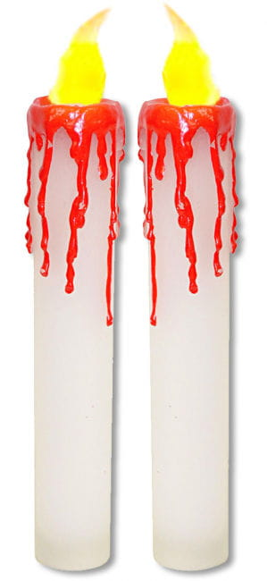 Bloody LED Candles White 2 PCS