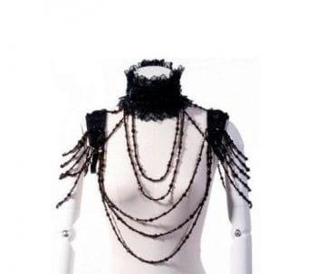 Bolero collar with pearl necklaces