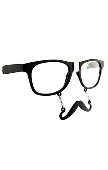 Glasses with hipster beard