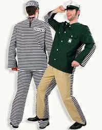 Policeman Convict Costume