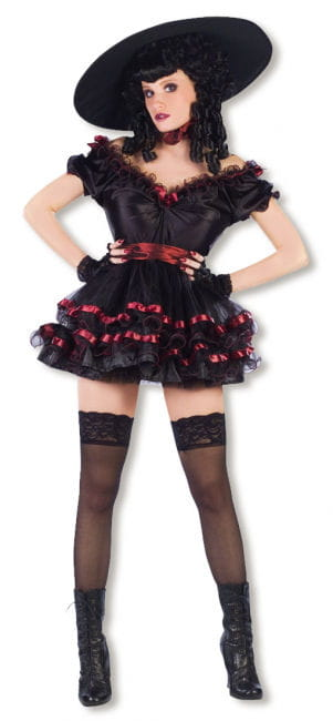 Burlesque Variete Tänzerin Kostüm Gr. ML
