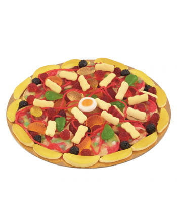 Candy pizza with fruit jelly