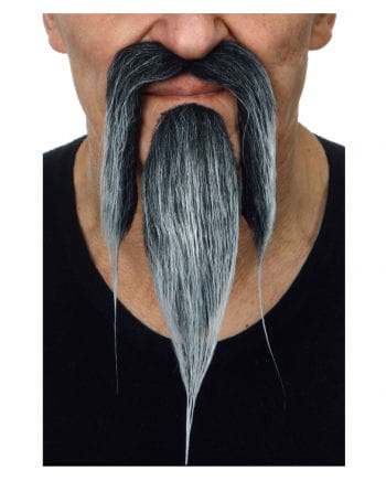 Chinesen Bart schwarz grau