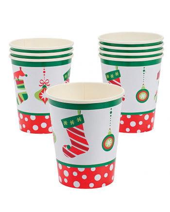 Christmas motif paper cups