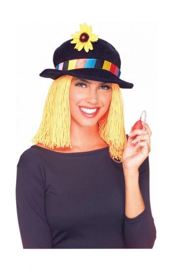 Clown Hut mit Haaren
