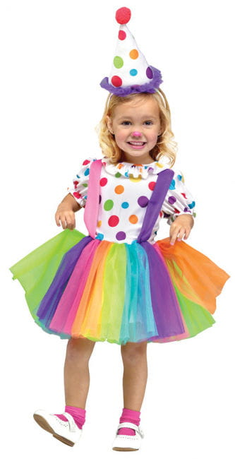 Clown costume for girls