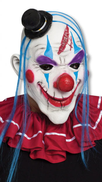 Clown mask with forehead wound