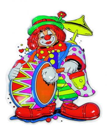 Clown Musikus Wanddeko
