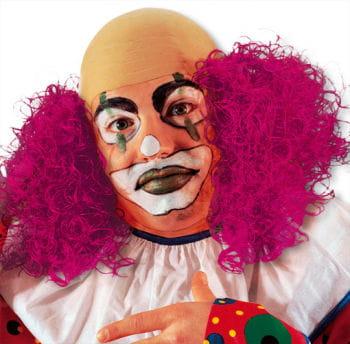 Clown Perücke mit brombeerrotem Haar
