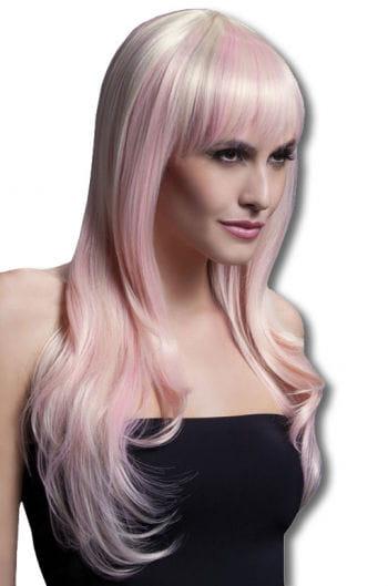 Damen Perücke Sienna blond pink