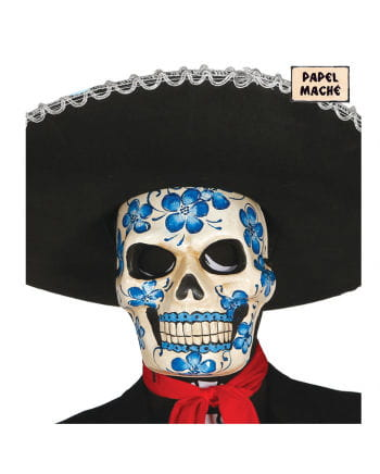 Day of the Dead mask with floral motif