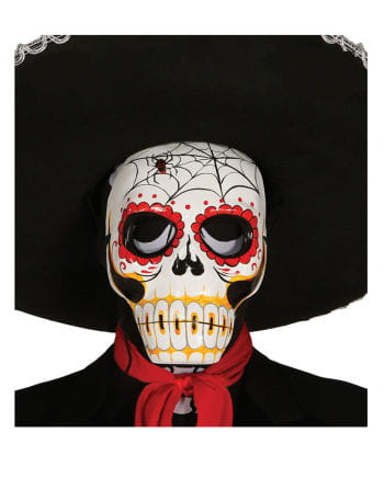 Day of the Dead mask with spider motif