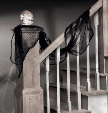 Halloween Dekostoff schwarz