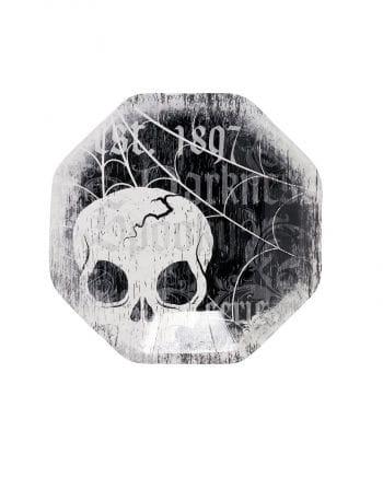 Dessert-Teller mit Skull