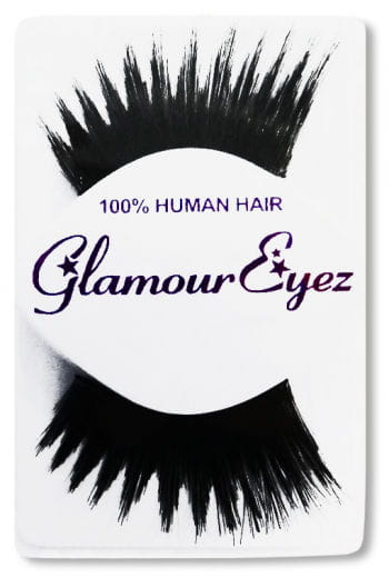 Human Hair Eyelashes Black Winged