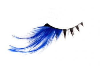 Echthaar- Wimpern schwarz/ blau